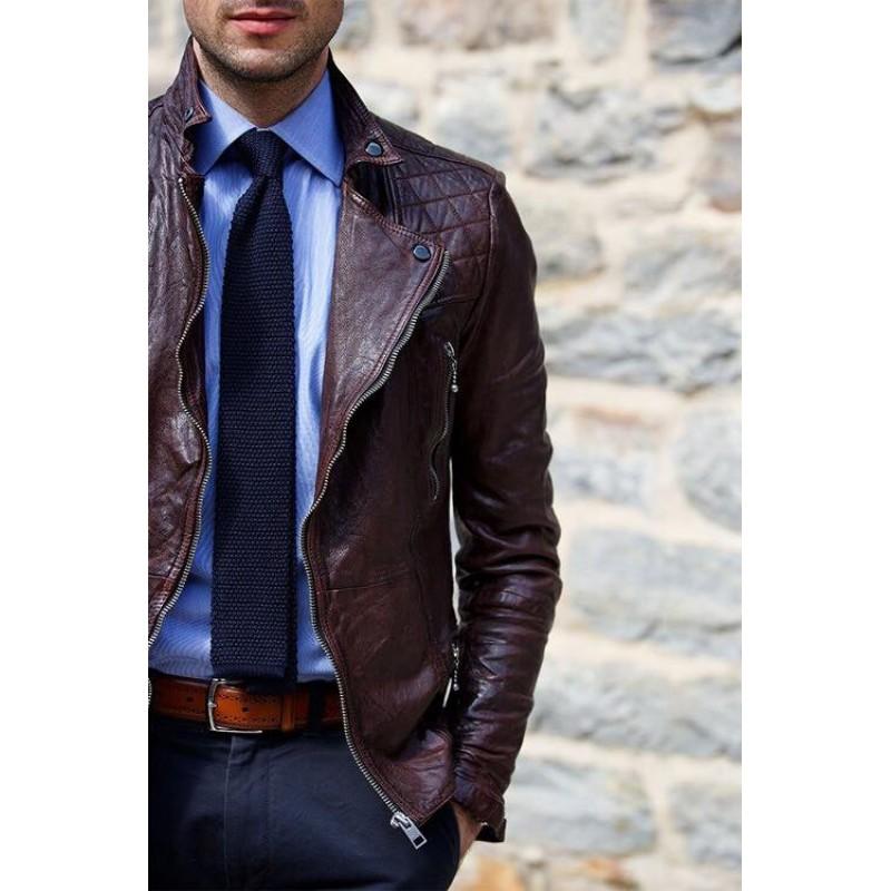 Horgolt egyszínű nyakkendő
